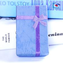 China atacado caixas de presente de jóias de veludo colar de papelão e brinco caixa de presente