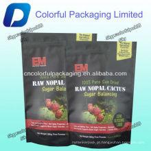 Sacos de empacotamento da folha da Alumínio / .100% Pure Sun Seco cru nopal cactus sugar balancing sacos de embalagem de alimentos