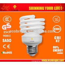 Nouveau! T2 La moitié pleine spirale 23W éconergétiques lampe 8000H CE qualité