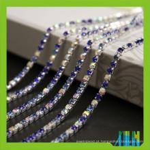 Vários tamanhos strass cadeias de copo com pedras coloridas para acessórios de vestuário
