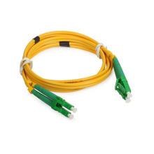 LC / APC Cable de remiendo de fibra óptica simple en modo simple