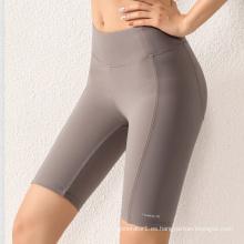 2021 recién llegados pantalones cortos de yoga sólidos para mujer