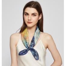 Accesorios de cabeza de seda de morera personalizados para damas Bufandas de seda cuadradas impresas ligeras