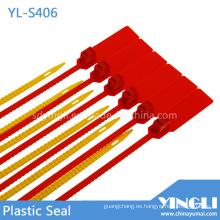 Sello de plástico de seguridad para transporte de aerolíneas con código de barras impreso