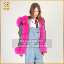2017 Heißer verkaufender preiswerter Winter-Mantel-realer Fox-Pelz Parka für Frauen