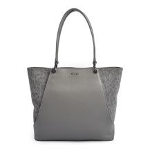 Bolso para portátil Bolso de cuero de retazos Shopper para mujer