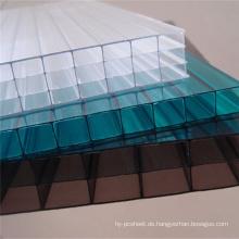 Polycarbonat-Blatt für Dekoration 4 Wand Blatt für Skylight 10 Jahre Garantie verschiedene Farben