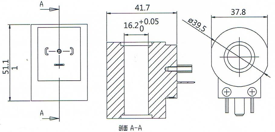 Dimension of BB16050020 Solenoid Coil: