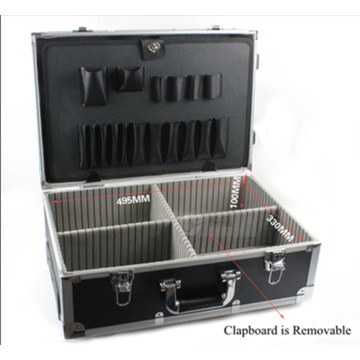 High Quality Aluminum Alloy Trolley Instrument Case with Wheels