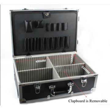 Case de alumínio de alta qualidade do equipamento do trole da liga com roda
