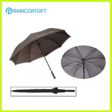 2015 hohe Qualität Solid Rod Pongé Fiberglas Werbe Golf Regenschirm