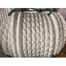 La fibra química 8-Strape rope el polietileno de la cuerda del amarre, poliéster mezclado, cuerda de nylon