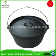 8 inch- 19 inch out door pot pre-seasoned cast iron camp dutch oven with 3 legs
