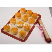 China fabricante FDA LFGB Aprovado Preço de Fábrica Resistência ao Calor Resistente ao Fogo de Fibra de Vidro Silicone Baking Mat Set