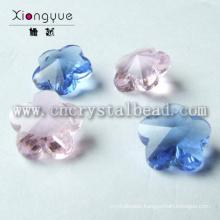Luxury Flower Shaped Glass Pendant Jewelry Beads
