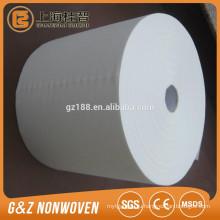 Белый спанлейс нетканые рулонов ткани для влажных салфеток, хлопок ткань рулон дешевой белой ткани ролл
