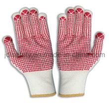 Luva de nylon com PVC pontilhada Palm (S5101)