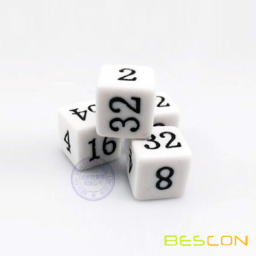 Six Sided Doubling Backgammon Dice 16MM