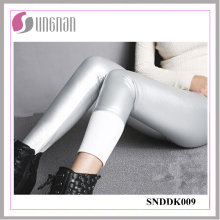 2015 Warm Multicolor PU Leather High Waist Thickening Fleece Leggings