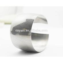Personalizado de acero inoxidable en blanco 40 mm de ancho manguito moda señora pulsera