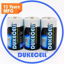 Bateria seca alcalina super Lr14 com revestimento de folha de alumínio