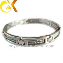 Горячий продавая браслет провода нержавеющей стали для человека