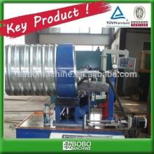 Corrugated metal culvert pipe making machine