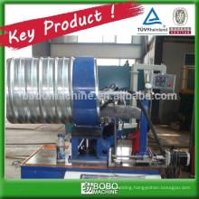 Corrugated metal culvert tube forming machine