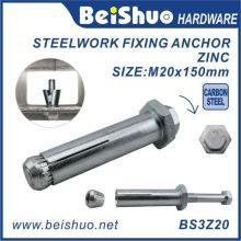 Bague d'ancrage d'expansion de revêtement en zinc de catégorie 8,8