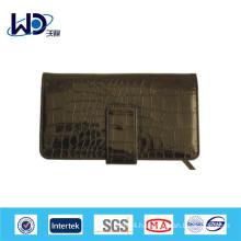 Black Crocodile texture cow leather custom wallet
