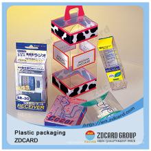 Caja de empaquetado plástica plegable plegable de las cajas de la magdalena al por mayor