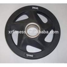 5 Handgrips black rubber coated Weight plates