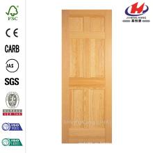 30 pulg. X 80 pulgadas Radiata Smooth 6 paneles sólidos de núcleo inacabado pino puerta interior losa
