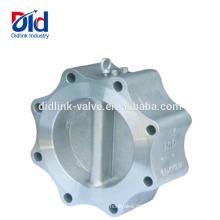 Freier Durchfluss Was ist ein Einzelkolben Y-Flansch-Duo-Rückschlagventil Disc-Typ, Rückschlagventil 3 4 Zoll