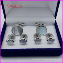 VAGULA Super qualité perle collier de boutons de manchettes goujons bouton Hl161282