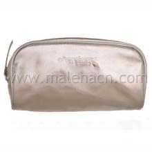 Silver Cosmetic Bag Makeup Bag with Zipper