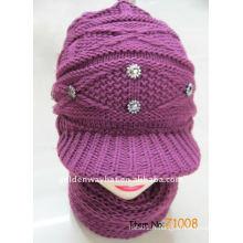 Écharpe tricotée pour femmes et ensemble de chapeaux