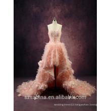 WD160712 Latest designs A-line/princess round neck sleeveless asymmetrical evening dress ball gown 2016