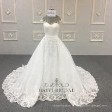 Amável removível muçulmano 2 peças atacado com longo trem nupcial vestidos de casamento noiva China