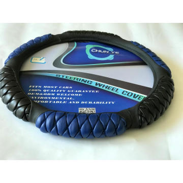 Six sponge best leather PU steering wheel cover
