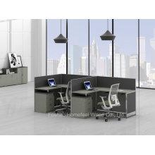 Bureau de bureau de bureau de bureau pour bureau moderne pour 2 personnes (HF-YZQ38)