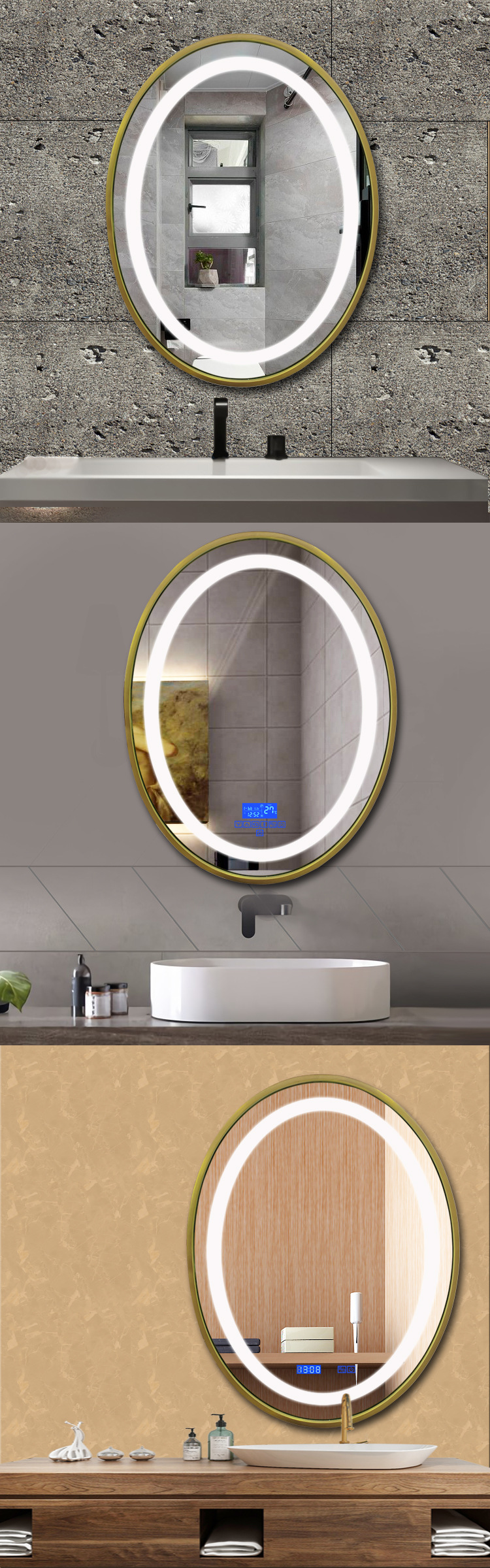 Application Led Light Up Mirror