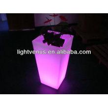 macetas de maceta con luz led Maceta de jardín LED con luz de cambio