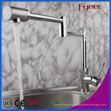 Fyeer - Brazo de extensión doble, latón, fregadero de cocina, grifo