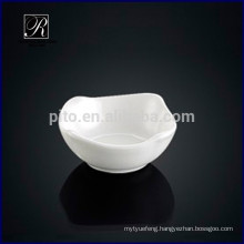 Hot design porcelain square soy saucer dish romanic deep butter saucer