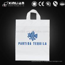 Impresión personalizada HDPE / LDPE troquelado bolsa de plástico de compras