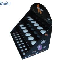 Étagère rotatoire de support de support de vernis à ongles de magasin de cosmétiques, support fait sur commande de support de plancher d'affichage de vernis à ongles