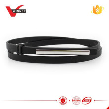Fashion PU material ladies skinny belt