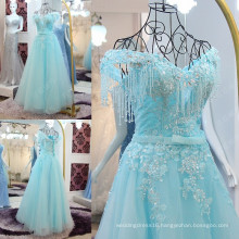Robes De Soiree 2016 Longue Shining Crystal Beading Formal Evening Gowns Dress Elegant Off The Shoulder Lace Applique ML185