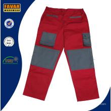 Grau rot 300 GSM Baumwolle Drill schwere Arbeit Hose robuste Männer Arbeit Cargohose